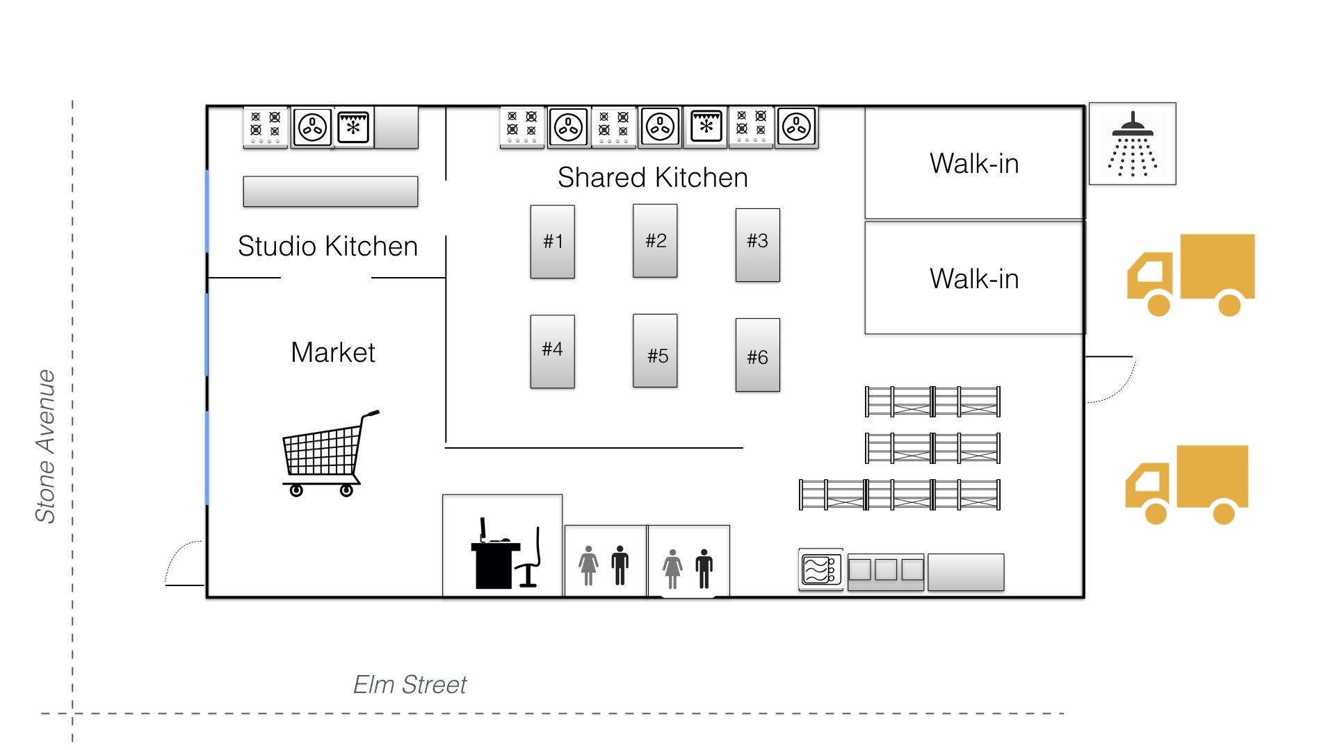 Kitchen Floor Plan Custom Home Design